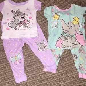 Disney Baby Thumper & Dumbo Pajamas 18 MOS